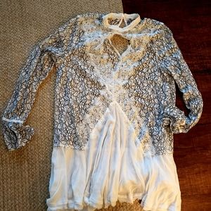 Free People Lace Top/Dress Large